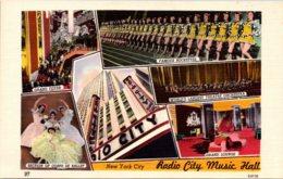 New York City Rockefeller Center Radio CIty Music Hall Interior Views - New York City