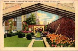 New York City Rockefeller Center English Garden Gardens Of The Nations - New York City