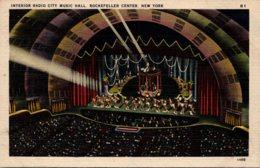 New York City Rockefeller Center Radio City Music Hall Interior - New York City