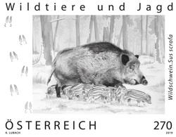 Austria 2019 - Wildwschwein Schwarzdruck Black Proof Mnh - 1945-.... 2ª República