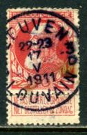 Belgique COB 74 ° Leuven - 1905 Grosse Barbe