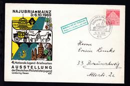 Bauwerke  30 Pfg. NUJUBRIA MAINZ 1969 - Berlin (West)