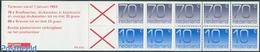 Netherlands 1993 5x70c, 5x10c Booklet, (Mint NH), Stamps - Stamp Booklets - Carnets Et Roulettes