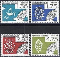 France 1988 - Mi 2650/53 - YT Po 198/201 ( The Four Elements ) MNH** - Precancels