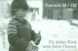 Austria 2016 - UNICEF - Für Jedes Kind Eine Faire Chance Black Proof - 1945-.... 2ª República
