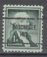 USA Precancel Vorausentwertung Preo, Locals Indiana, Roachdale 704 - Vorausentwertungen