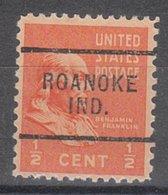 USA Precancel Vorausentwertung Preo, Locals Indiana, Roanoke 703 - Vorausentwertungen