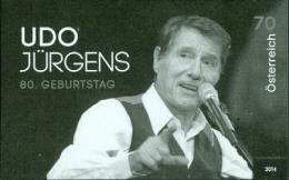 Austria 2014 - Geburtstag Udo Jürgens Black Proof - 1945-.... 2ª República
