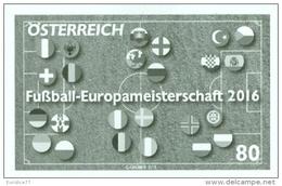Austria 2016 - Fußball-Europameisterschaft 2016 Black Proof Mnh - 1945-.... 2ème République