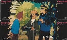 TELECARTE PUZZLE 4 CARTES TINTIN - BD