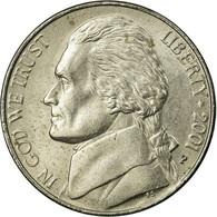 Monnaie, États-Unis, Jefferson Nickel, 5 Cents, 2001, U.S. Mint, Philadelphie - Émissions Fédérales