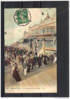14446 . TROUVILLE . LES PLANCHES ET LE CASINO  . CIRCULEE EN 1911 . ANIMATION - Trouville