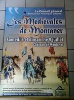 Affiches  - Les Médiévales Au Chateau   De Montaner . - Plakate