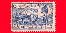 TURCHIA - Usato - 1924 - Ponte Di Sakarya E Mustafa Kemal - 7 ½  Piastres - Usati