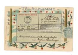 Télégramme - Administration Du Bonheur - Gaufrée - 7205 - Postal Services
