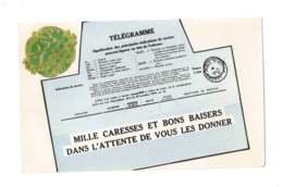 Télégramme - Mille Caresses Et Bons Baisers - 7223 - Postal Services