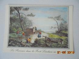 La Lande. Vieille Gravure De 1800. Le Travail Des Resiniers Dans La Foret Landaise. Elce N6412. - France