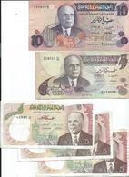 Tunisie Lot De 5 Billets Ayant Circulés - Tunisia