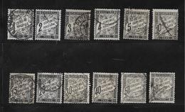 France Timbres Taxes De 1882 N°10 A 21 Oblitérés Cote 683€ - 1859-1955 Gebraucht
