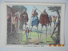 La Lande. Vieille Gravure De 1800. Les Echassiers Landais Partant Garder Leurs Troupeaux De Moutons... Elce N6415. - France