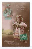 CPA - FILLETTE - MARRAINE D'UN POILU - Scènes & Paysages