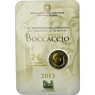 Italie, 2 Euro, 700ème Anniversaire De La Naissance De Giovanni Boccaccio, 2013 - Italie