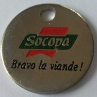 Jeton De Caddie - SOCOPA - Bravo La Viande ! - En Métal - - Einkaufswagen-Chips (EKW)