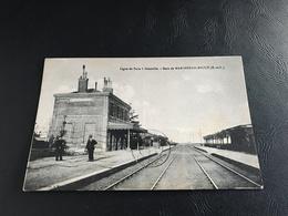 Ligne De Paris à Granville - Gare De MARCHEZAIS BROUÉ - 1935 Timbrée - Frankreich