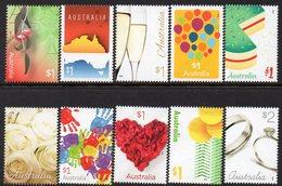 AUSTRALIA, 2016 LOVE IS IN THE AIR 10 MNH - 2010-... Elizabeth II