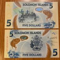 Solomon Islands - 5 Dollars 2019 UNC Polymer Lemberg-Zp - Salomonseilanden
