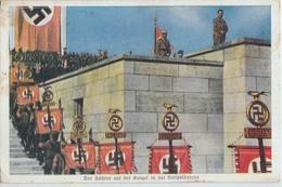 GUERRE DE 39-45- LE FUHRER A LA TRIBUNE  A NUREMBERG- - Weltkrieg 1939-45