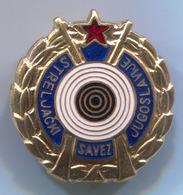 Archery, Shooting - Schutzen, Yugoslavia Federation, Vintage Pin, Badge, Abzeichen, Enamel - Archery