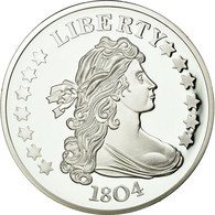 United States Of America, Médaille, Reproduction Silver Dollar Liberty, FDC - Other