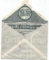 JEUX OLYMPIQUES 10C PAIRE + SEMEUSE 25C LETTRE PUB CAFES DEBRAY THE CHOCOLAT CLICHY SEINE 1924 - Postmark Collection (Covers)
