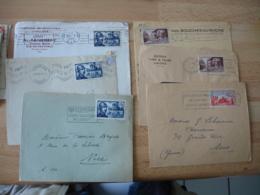 Lot 6 Lettte Timbre Seul Sur Lettre Driant Debarquement Picquet Rousin - Marcophilie (Lettres)