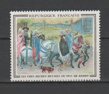 """FRANCE / 1965 / Y&T N° 1457 ** : """"Très Riches Heures Du Duc De Berry"""" - Gomme D'origine Intacte - France"""