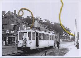 DIEST : Leuvensepoort  (TRAM ART83  ) Foto Van Oude Cliché 1953   (15 X 10 Cm) - Trenes
