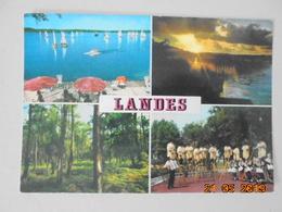 Landes. Regates Sur Le Lac. Coucher De Soleil Sur Un Lac. Sous Bois. Danse Folklorique. Rex 229 Postmarked 1978. - France