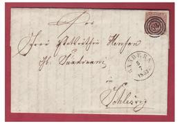 DANEMARK -- 1853-- LETTRE DE RANDERS 5/7 1853 -- FIRE R.B.S.-- NR 53 -- - 1851-63 (Frederik VII)