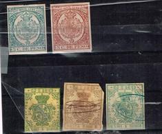Lot Cuba  Espagnole Anciens Timbres Fiscaux à Identifier - Stamps