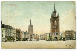 CPA - Carte Postale - Belgique - Courtrai - Grand Place - 1906 (C8687) - Kortrijk