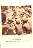 N°73015 -cpa Indochine  -enfants Indigènes Mangeant Le Riz- - Missions
