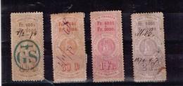 Lot Suisse Anciens Timbres Fiscaux à Identifier - Stamps