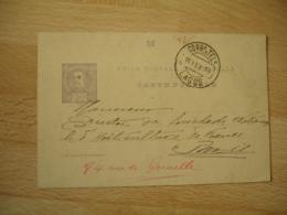 Portugal Lagos  Bilhete Postal Entier Postal Stationery20 Reis Corr Tel O - Entiers Postaux