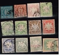 Lot Bavière Anciens Timbres Fiscaux  à Identifier - Stamps