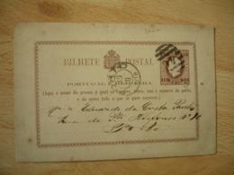 1879 Portugal  Porto Obliteration Ovale Strie 40  Bilhete Postal 15 Reis Stationery Cover - Entiers Postaux