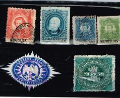 Lot Mexique Anciens Timbres Fiscaux à Identifier - Stamps