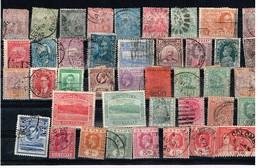Lot Colonies Britanniques Anciens Timbres  à Identifier - Stamps