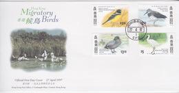 Hong Kong 1987 Migratory Birds FDC - Hong Kong (1997-...)