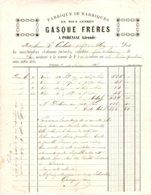1885  GASQUE  Fabrique De Barriques  PODENSAC (33) - Francia